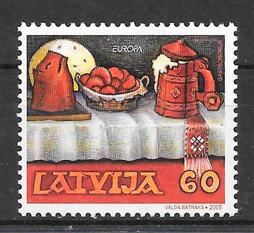 filatelia Europa Letonia 2005
