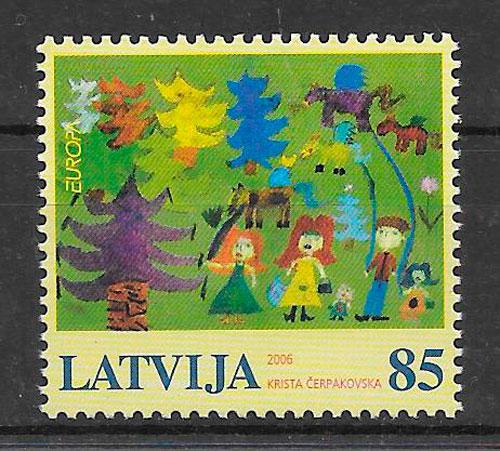 filatelia Europa Letonia 2006