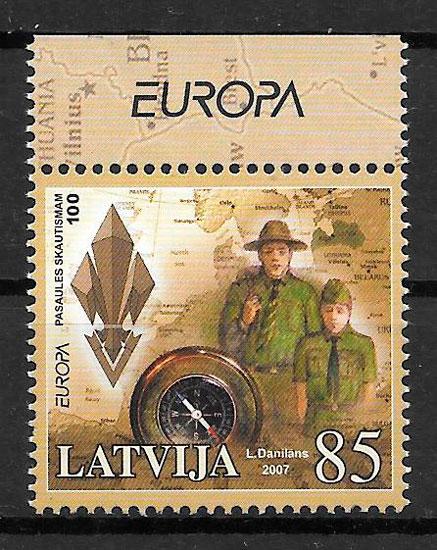 sellos Europa Letonia 2007