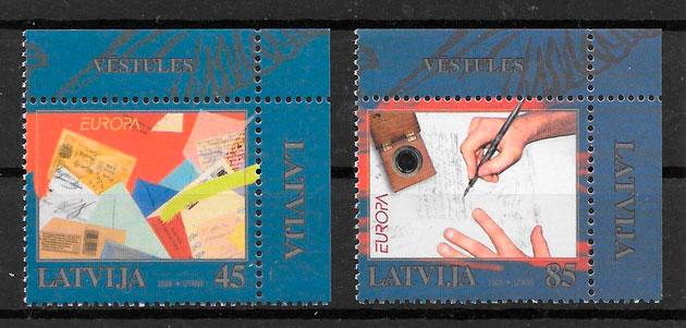 sellos Europa Letonia 2008