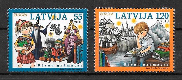 filatelia Europa Letonia 2010