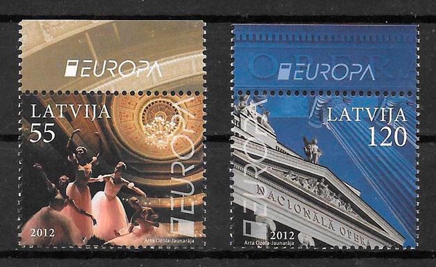 sellos Europa Letonia 2012