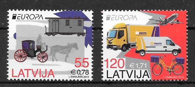 filatelia colección Europa Letonia 2013