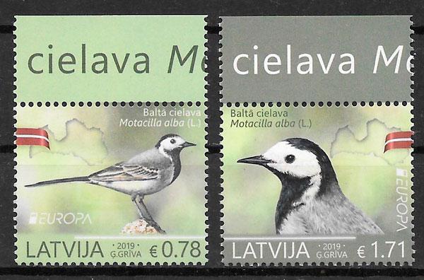 filatelia colección Europa Letonia 2019