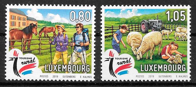 filatelia fauna Luxemburgo 2019
