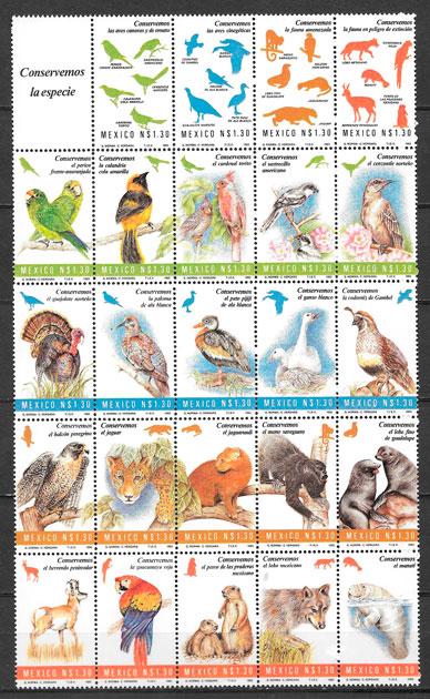 sellos fauna México 1994