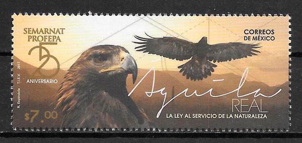 colección sellos fauna Mexico 2017