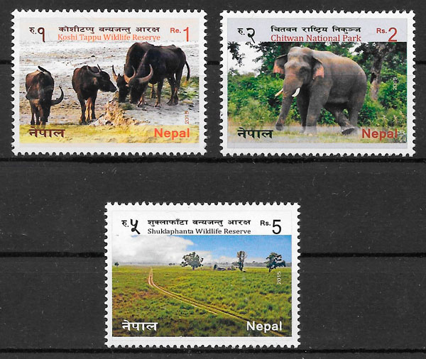 sellos fauna Nepal 2015