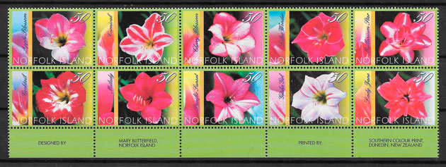 sellos flora Norfolk Island 2004