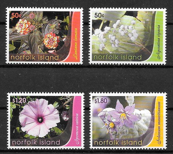sellos flora Norfolk Island 2007