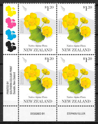 sellos flora Nueva Zelanda