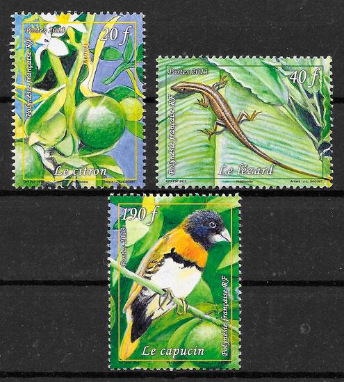sellos fauna Polinesia 2013