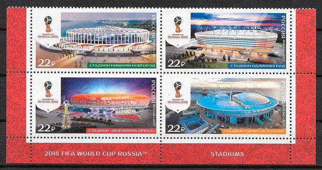 filatelia fútbol Rusia 2017