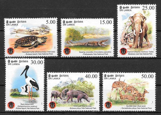 sellos fauna Sri Lanka fauna 2013