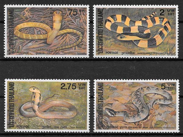 filatelia fauna Tailandia 1981