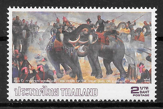 sellos fauna Tailandia 1992