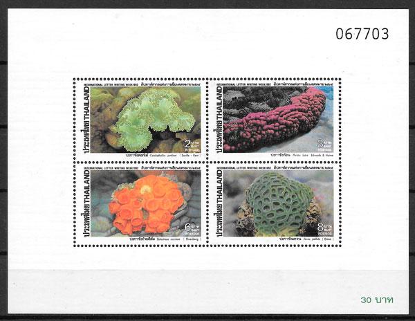 filatelia fauna Tailandia 1992