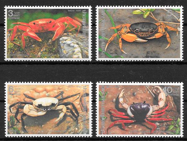 filatelia fauna Tailandia 1994