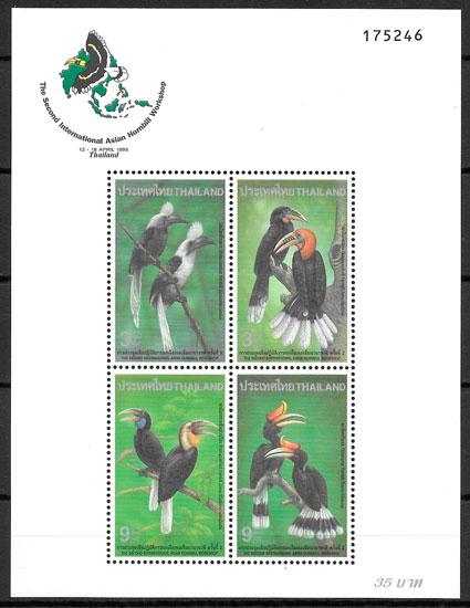 filatelia fauna Tailandia 1996