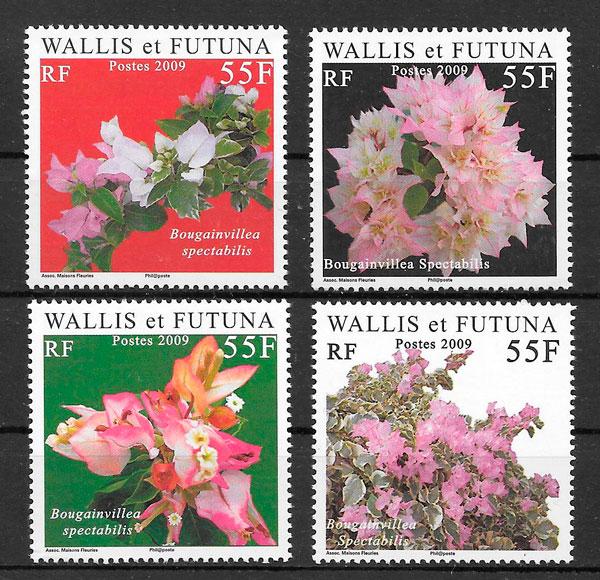 filatelia flora Wallis y Fotuna 2009