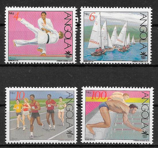 filatelia colección olimpiadas Angola 1991
