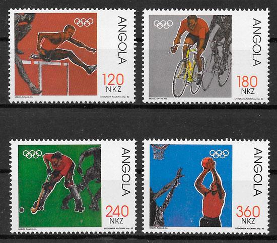 colección sellos olimpiadas Angola 1992