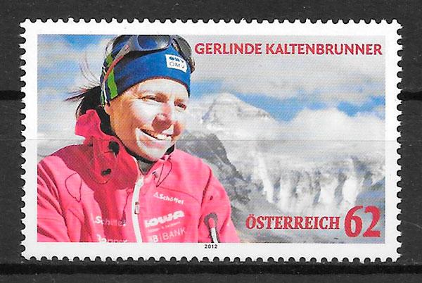 filatelia colección deporte Austria 2012