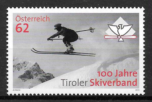 colección sellos deporte Austria 2013