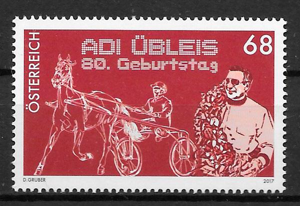 colección sellos deporte Austria 2017