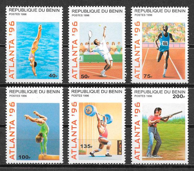 sellos olimpiadas Benin 1996