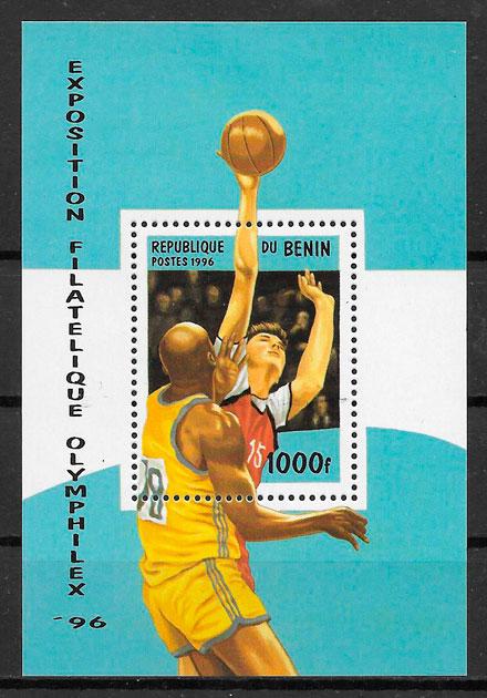 filatelia colección olimpiadas Benin 1996