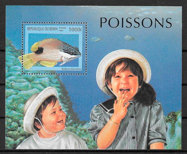 colección sellos fauna Benin 1997