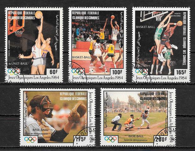colección sellos olimpiadas Comores 1984