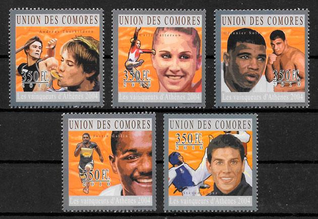 sellos olimpiadas Comores 2010