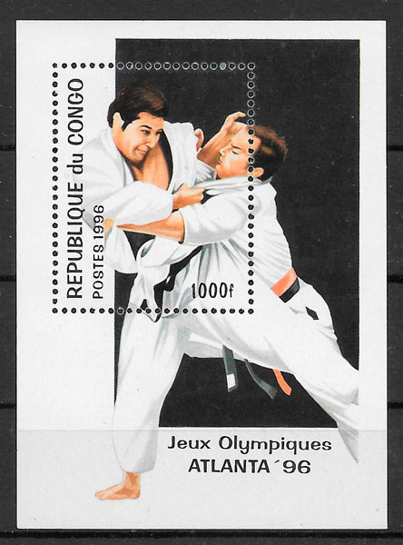 colección sellos olimpiadas Congo 1996