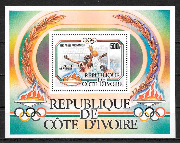 filatelia olimpiadas Coata de Ivori 1983