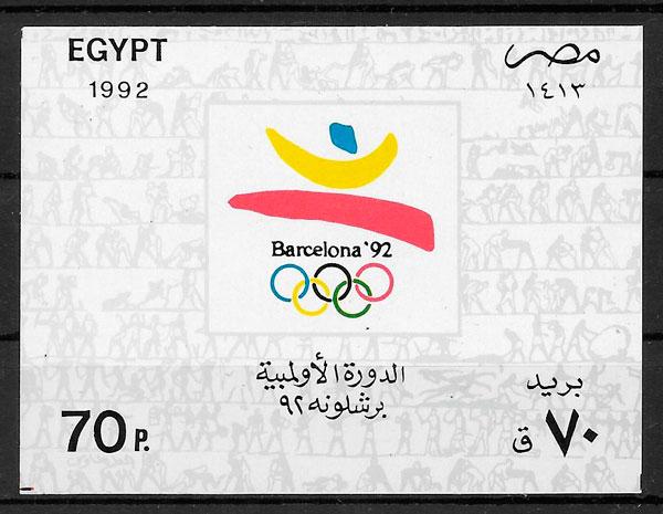 sellos olimpiadas Egipto 1992
