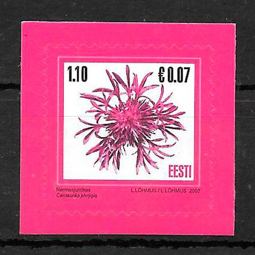 filatelia colección flora Estonia 2007