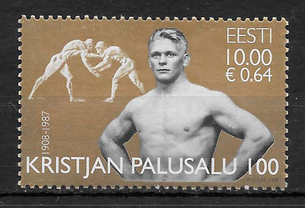 sellos deporte Estonia 2008