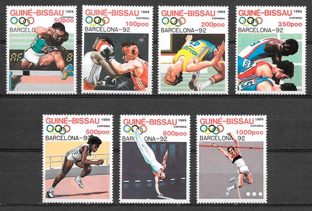 sellos olimpiadas Guinea Bissau 1992