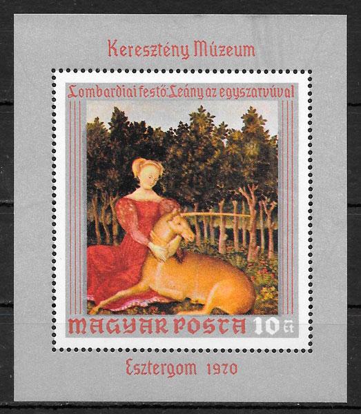 colección sellos pintura año 1970