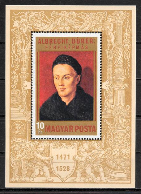 colección sellos pintura Hungría 1971