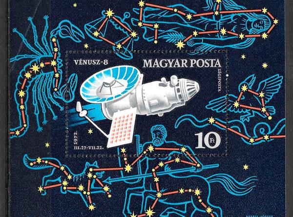colección sellos espacio Hungría 1973
