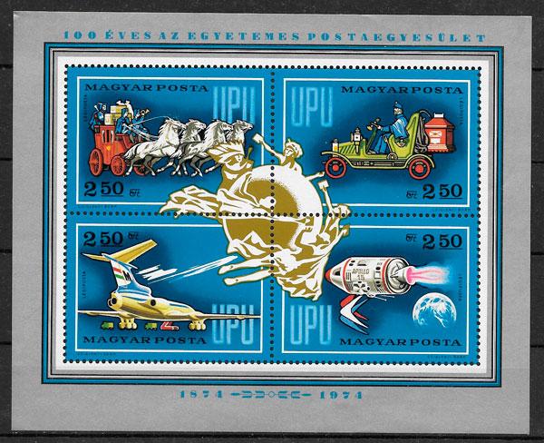 sellos transporte Hungría 1974