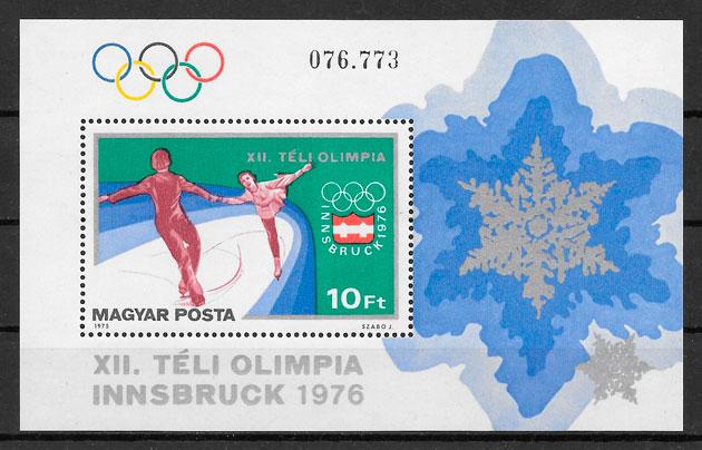 sellos deporte Hungría 1975