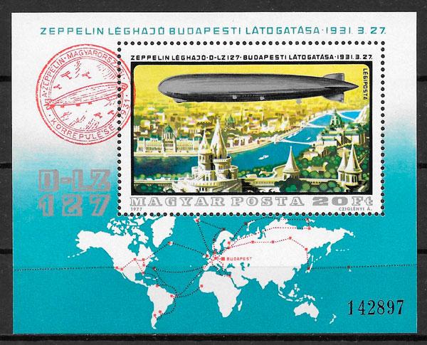 sellos transporte Hungría 1977