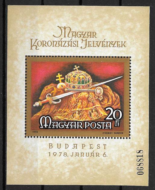 sellos arte Hungría 1978
