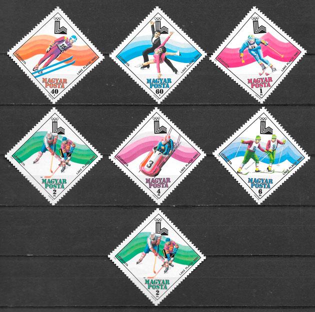 sellos deporte Hungría 1979