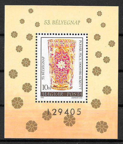filatelia colección arte Hungría 1980