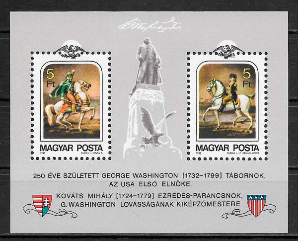 sellos pintura Hungría 1982